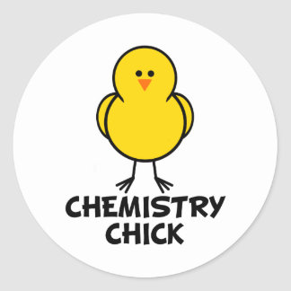 Chemistry Chick Round Stickers