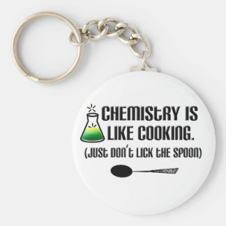 Chemistry Cooking Key Ring