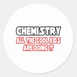 Chemistry...Cool Kids Round Sticker