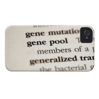 Chemistry definitions on paper iPhone 4 case