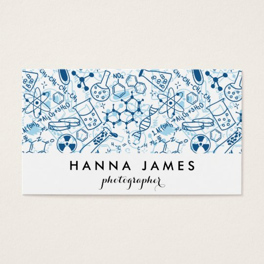 Chemistry Doodle Pad Drawing Personalised Text Business Card