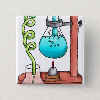 Chemistry Experiment 15 Cm Square Badge