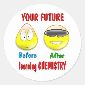Chemistry Future Round Sticker