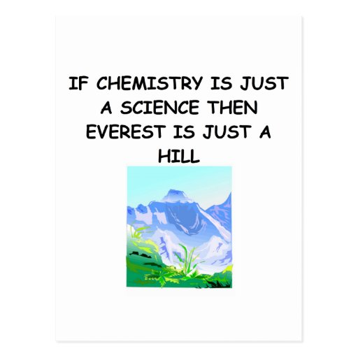 CHEMISTRY gifts Postcard