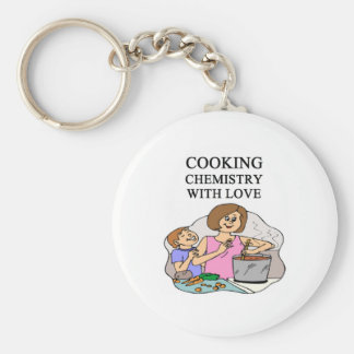 chemistry is cooking basic round button key ring