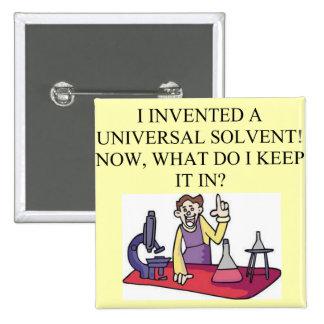 chemistry joke 15 cm square badge
