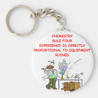 chemistry joke basic round button key ring