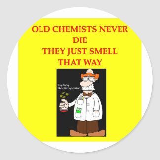 chemistry joke round stickers