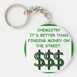 chemistry basic round button keychain