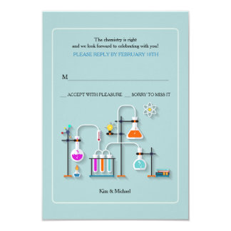 Chemistry Lab Reply Cards 9 Cm X 13 Cm Invitation Card