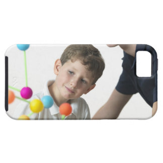 Chemistry lesson. 6 year old boy and his teacher tough iPhone 5 case