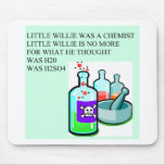 chemistry little willie rhyme mouse mat