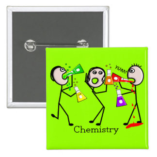 Chemistry Lovers Stick People Design Gifts 15 Cm Square Badge