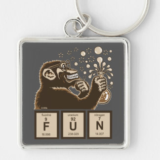 Chemistry monkey discovered fun key ring