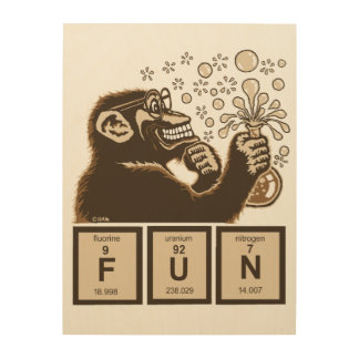 Chemistry monkey discovered fun wood wall decor