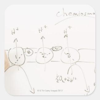 Chemistry on dry-erase board square sticker