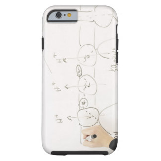 Chemistry on dry-erase board tough iPhone 6 case