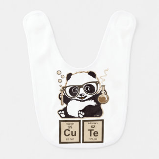 Chemistry panda discovered cute baby bibs