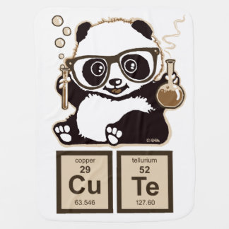 Chemistry panda discovered cute baby blanket