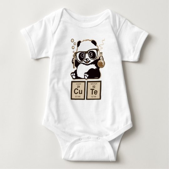 Chemistry panda discovered cute baby bodysuit