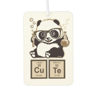 Chemistry panda discovered cute car air freshener
