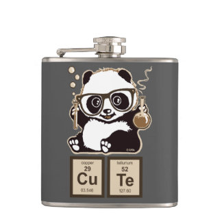 Chemistry panda discovered cute hip flask