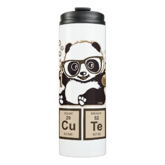 Chemistry panda discovered cute thermal tumbler