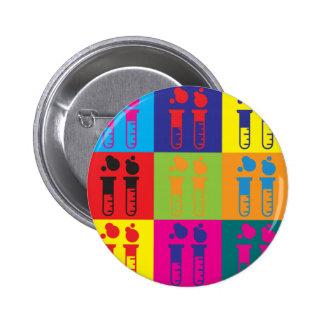 Chemistry Pop Art 6 Cm Round Badge
