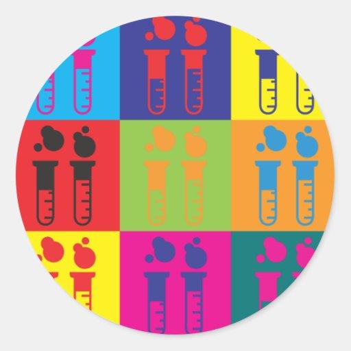 Chemistry Pop Art Round Sticker
