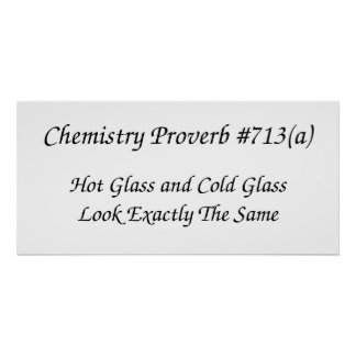 Chemistry Proverb Poster