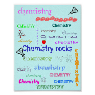 Cool chemistry gifts t shirts art posters other gift ideas zazzle for Chemistry poster ideas