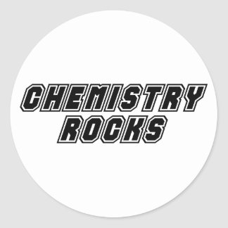 Chemistry Rocks Round Stickers
