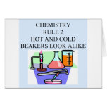 chemistry rule 2 greeting card