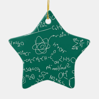 Chemistry scribbles christmas ornament