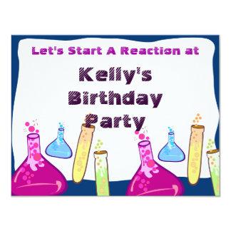 Chemistry Set Party 11 Cm X 14 Cm Invitation Card
