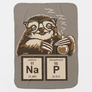 Chemistry sloth discovered nap baby blanket