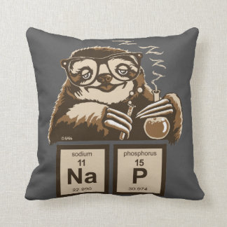 Chemistry sloth discovered nap cushion