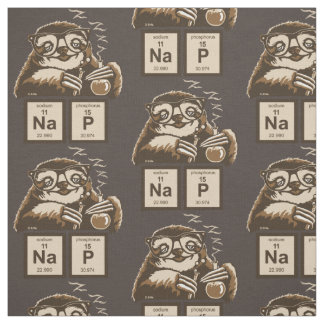 Chemistry sloth discovered nap fabric