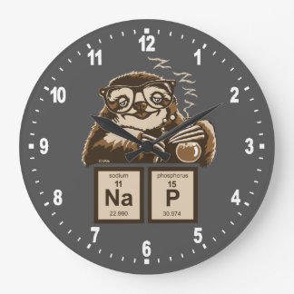 Chemistry sloth discovered nap large clock