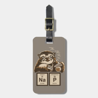 Chemistry sloth discovered nap luggage tag