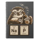 Chemistry sloth discovered nap notebook