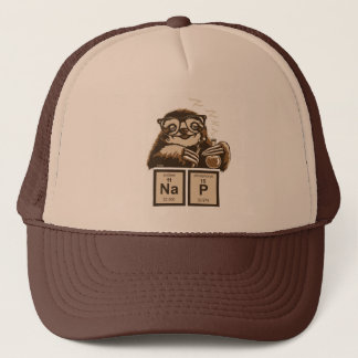 Chemistry sloth discovered nap trucker hat