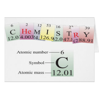 Chemistry Spelled with elements Card