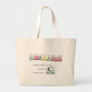 Chemistry Spelled with elements Jumbo Tote Bag