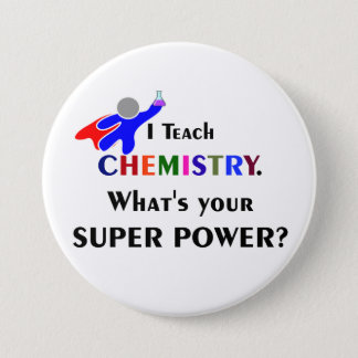 Chemistry Superhero 7.5 Cm Round Badge