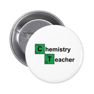 Chemistry Teacher black 6 Cm Round Badge