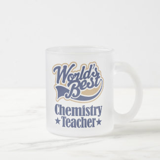 Chemistry Teacher Gift For (Worlds Best) Frosted Glass Coffee Mug