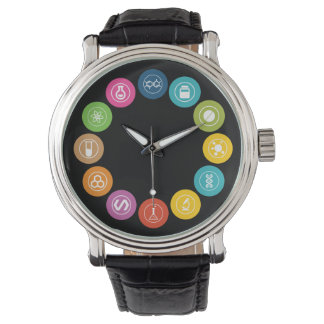 Chemistry Teacher Symbols Black Watches