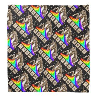 Chemistry unicorn pukes rainbow bandana