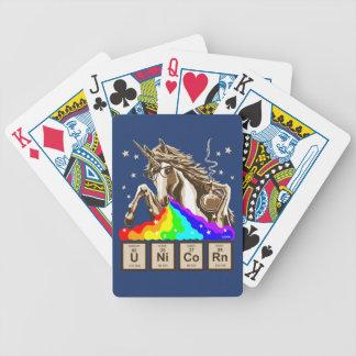 Chemistry unicorn pukes rainbow bicycle playing cards